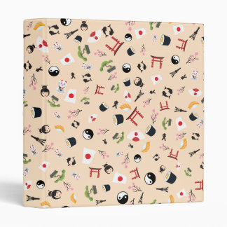 Japan famous items- the land of the rising sun 3 ring binder