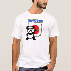 Men's Basic T-Shirt with Japanese Fencing Panda design