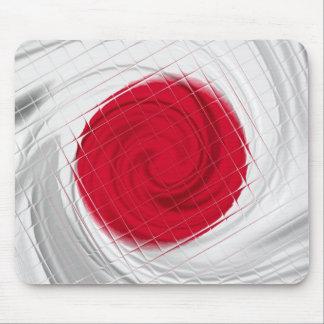 Japan Flag Artwork Mouse Pad