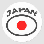Japan Flag - Cool Design! Classic Round Sticker