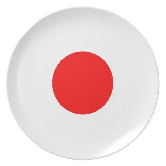 Japan Flag Designs Dinner Plate