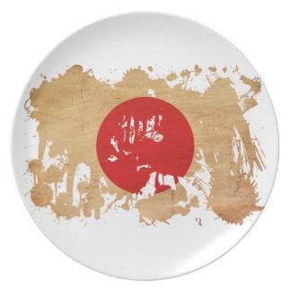 Japan Flag Dinner Plate