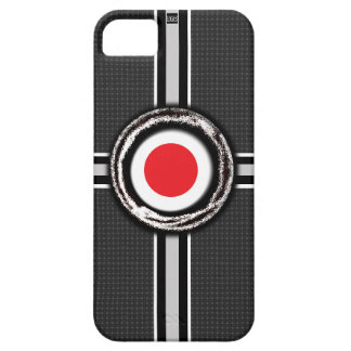 Japan Flag Emboss Black iPhone 5 Case