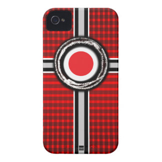 Japan Flag Emboss Red iPhone 4 Case-Mate Case