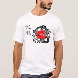 Japan Flag Fire Dragon T-Shirts