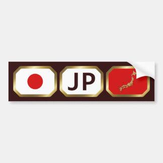 Japan Flag Map Code Bumper Sticker Car Bumper Sticker
