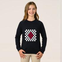 Japan Flag minimalist dots kid's sweatshirt
