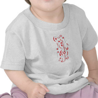 Japan Flag Musical Notes Baby T-Shirt