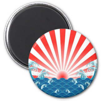 Japan Flag - NIPPON Magnet