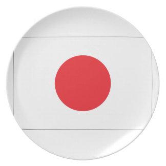 Japan Flag Plate