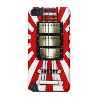 Japan Flag Retro Electric Guitar #1A iPod Touch 5G Cover