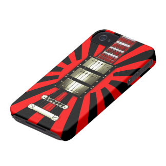 Japan Flag Retro Electric Guitar #2A iPhone 4 Cover