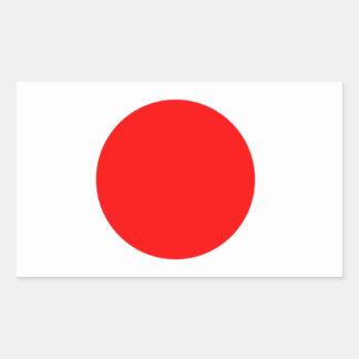 Japan Flag Rectangular Sticker