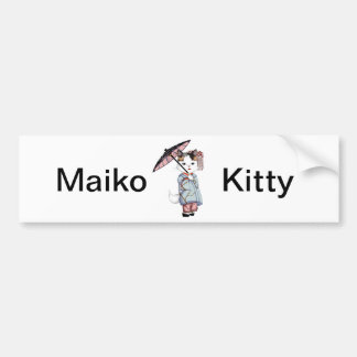 Japan Floating World of Maiko and Geisha Bumper Sticker
