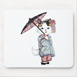 Japan Floating World of Maiko and Geisha Mouse Pad