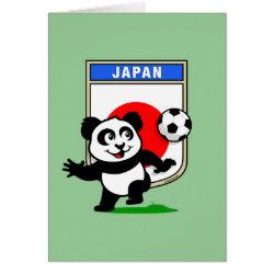 Greeting Card with Japan Football Panda design