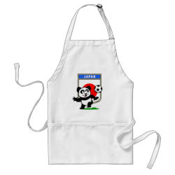 Apron with Japan Football Panda design