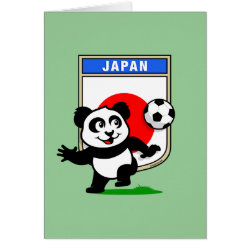 Greeting Card with Japan Football Panda design