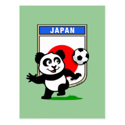 Postcard with Japan Football Panda design