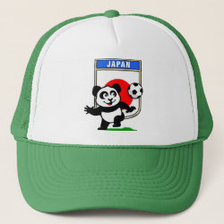 Trucker Hat with Japan Football Panda design