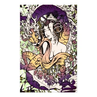 Japan Geisha Dragon Stationery