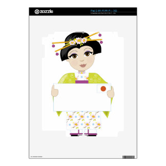 Japan Girl Sign Decals For iPad 2