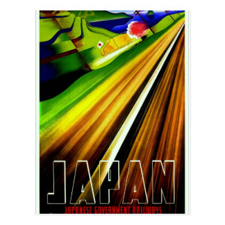 Japan Government Railways Vintage Travel Poster Postcard