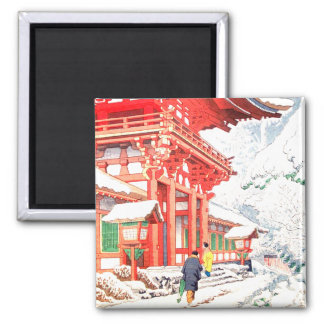 Japan Graph 2 Inch Square Magnet