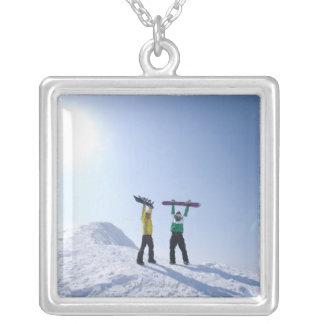 Japan, Hokkaido, Niseko 2 Square Pendant Necklace