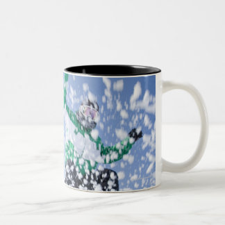 Japan, Hokkaido, Niseko Two-Tone Coffee Mug