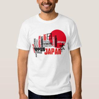 Japan Hope and Courage Rising Sun Solidarity T Shirts