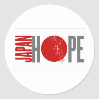JAPAN HOPE - EARTHQUAKE CLASSIC ROUND STICKER