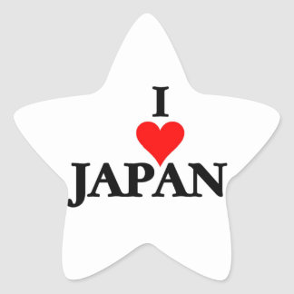 Japan - I Love Japan Star Sticker