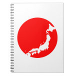 Japan In Ciricle Spiral Notebooks