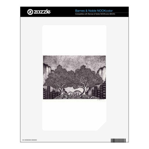 Japan ink landscape decal for NOOK color