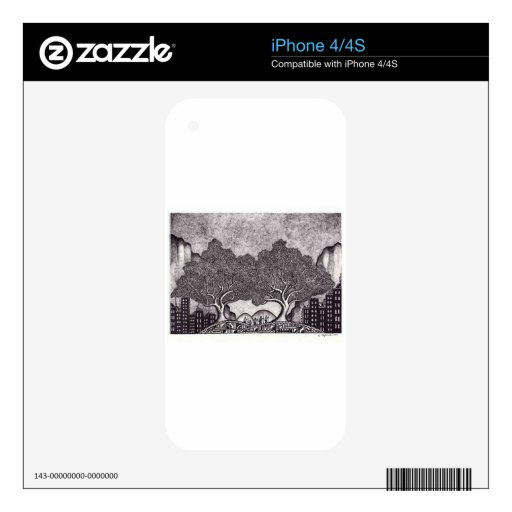 Japan ink landscape decal for the iPhone 4S