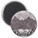 Japan ink landscape fridge magnet