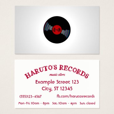 Professional Business Japan inspired Record Store Business Card