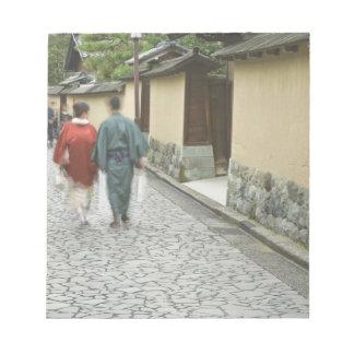 Japan, Ishikawa, Kanazawa, Buke Yashiki District Note Pad