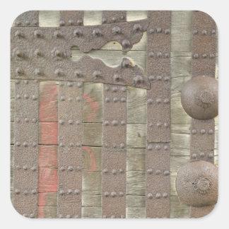 Japan, Ishikawa, Kanazawa, Castle Gate Detail Square Sticker