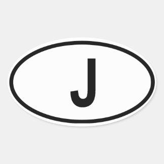 "Japan ""J"" Oval Sticker"