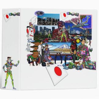 Japan Japanese Archipelago Collage 2 3 Ring Binder