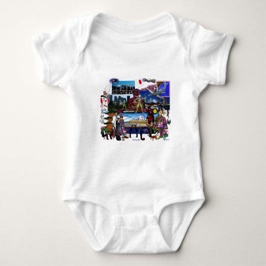 Japan Japanese Archipelago Collage Baby Bodysuit