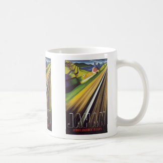 Japan Japanese Government Railways, Vintage Classic White Coffee Mug