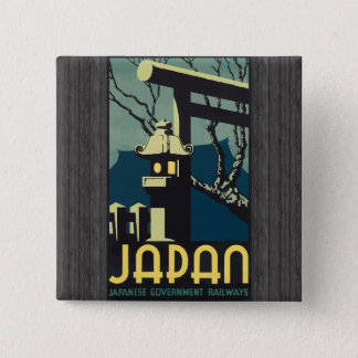Japan Japanese Government Railways, Vintage Pinback Button
