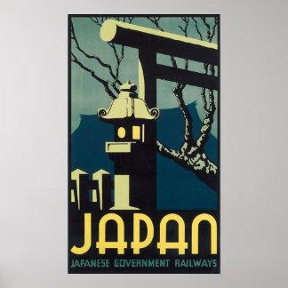 Japan, Japanese Govt Railways Travel Poster