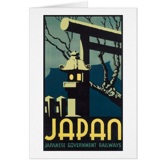 Japan, Japanese Govt Railways Travel Poster Card