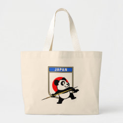 Jumbo Tote Bag with Japanese Javelin Panda design
