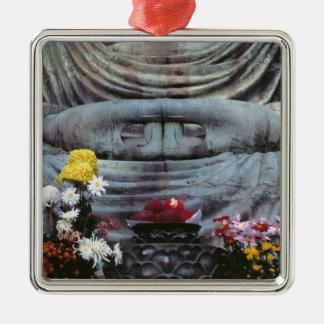 Japan, Kanagawa Pref., Kamakura. Floral Christmas Ornament