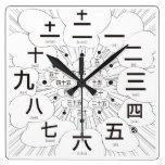 kanji comic manga sign phonetic simple modern chinese characters japanese callygraphy black white 書 漢字 白 黒 時計 モノクロ